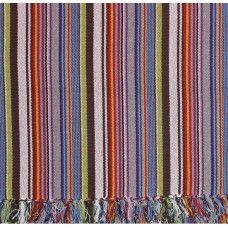 230cm x 170cm Floor Mat Pastel Striped  - 100% Cotton