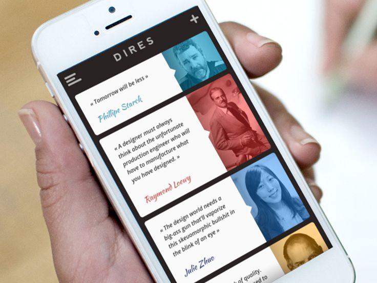 Design quotes app by Alois (via Creattica)