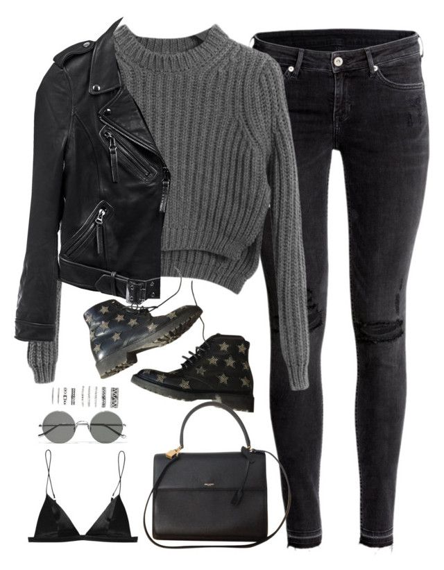 Sem título #5074 by fashionnfacts on Polyvore featuring polyvore, fashion, style, Chicnova Fashion, Linea Pelle, H&M, T By Alexander Wang, Yves Saint Laurent, Forever 21, Sunday Somewhere and clothing