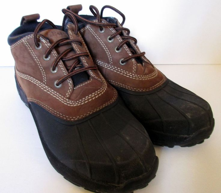 LL Bean Men's Duck Shoes Boots size 8.5 brown black #EddieBauer #SnowWinter