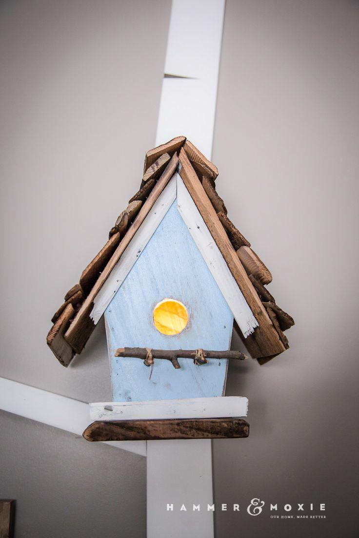 Adorable birdhouse nightlights for nursery | Hammer & Moxie