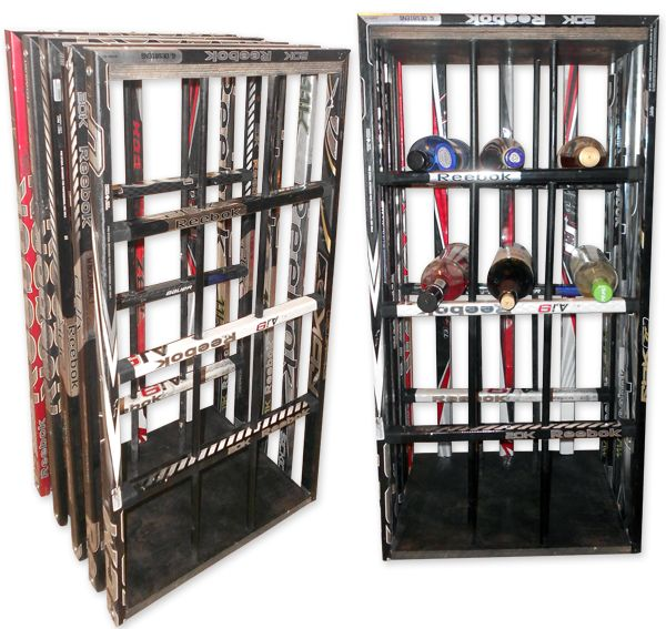 Hockey Stick Wine Rack