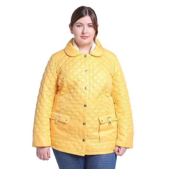 della Plus Size Womens winter Jacket Yellow Ladies Parka coat