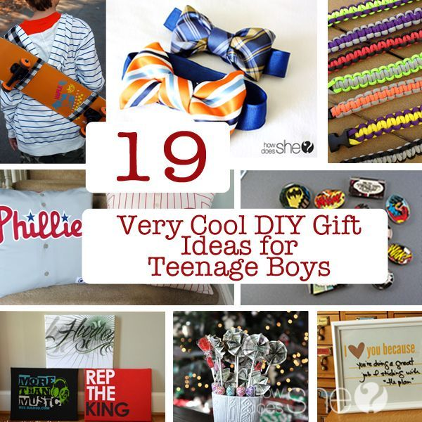 19 Very Cool DIY Gift Ideas for Teenage Boys #howdoesshe #diygifts howdoesshe.com