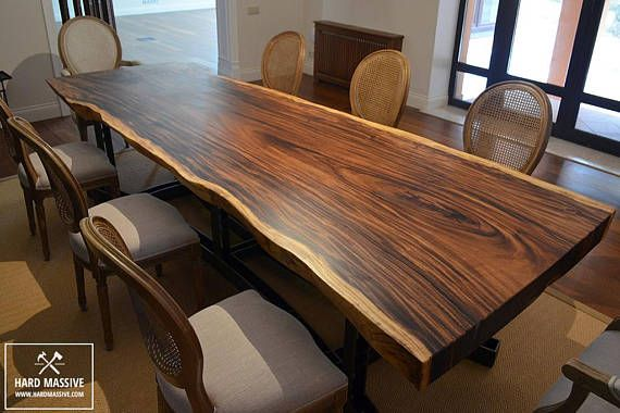 Large Dining Table Is Made Of A Whole Array Of Suar Wood With A