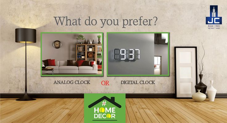 What do you prefer Antique Analog Clock or Digital Clock for your Living room?.