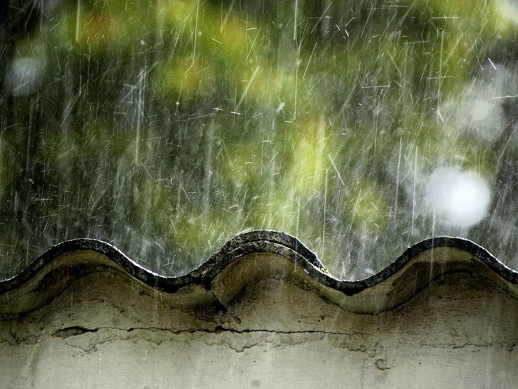 The sound of heavy rain on a tin roof is mesmerizing... I usually hear it when collecting wood for the fire!