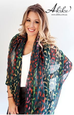 Animal Print Scarf $24.95 can be used as a scarf or shawl! $24.95 www.akiku.com.au