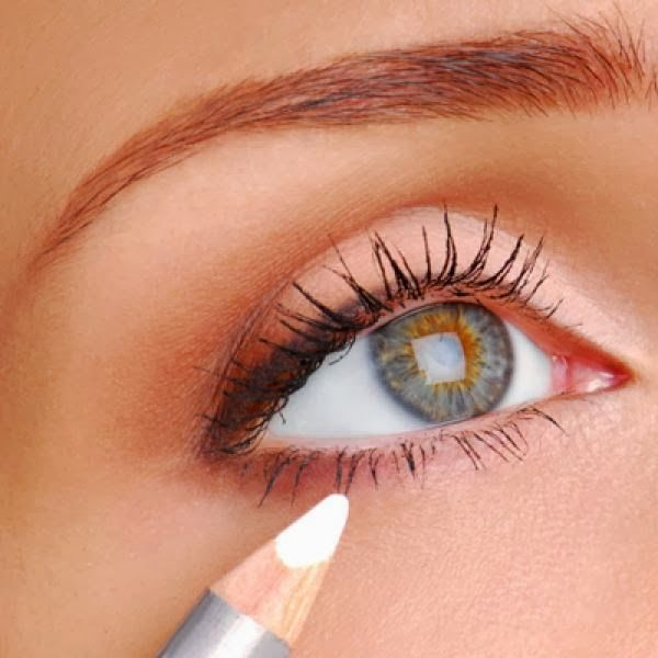 Take a white eye pencil and line the inside rim of your lower eyelid. This really makes eyes pop!