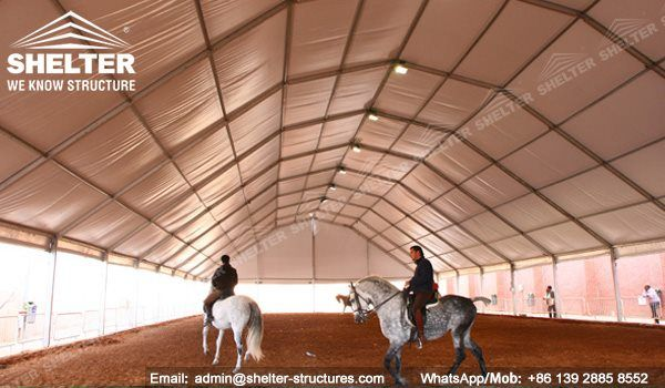 58 SHELTER Polygonal Tent - Indoor Horse Arena - Covered Riding Arena for Sale - Built Metal Equestrian Arena