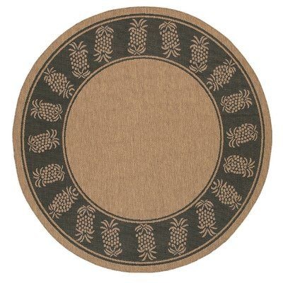 Bay Isle Home Southard Cocoa Novelty Rug Rug Size: Round ...