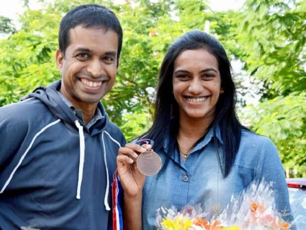 • Though her parents were professional volleyball players, PV Sindhu got inspired from the game of Pulleya Gopichand who was the All England Open Badminton Champion in 2001 and chose Badminton over Volleyball.
