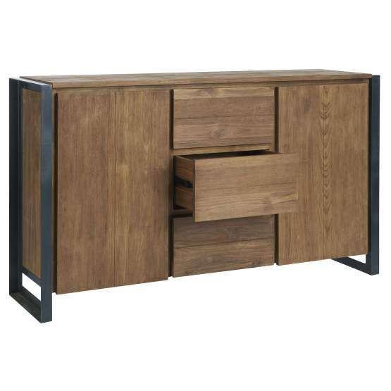 d-Bodhi hoog dressoir Fendy, 2 deuren, 3 laden 90x150x40 cm