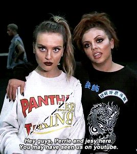 | Perrie & Jesy | I can't wait to watch the Glory Days Tour documentary aha (: