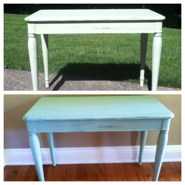 Piano Bench Rehab. Painted A Sage Green With Light