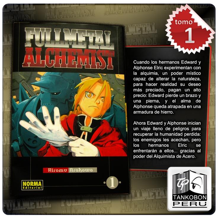 Título: FMA VOL.1  Editorial: Norma  Dimensiones: Ancho:11.6cm / Largo: 17.5cm / Espesor: 1.1cm  Precio: S/.47.00  De venta en: https://www.facebook.com/pages/Libreria-Bazar-Zerox/111944435528038  #fullmetalalchemist #edward #elric #manga #mangas #volumen #tomo #fma #hiromu #arakawa #shonen #alquimista #metal #transmutacion #armadura #homunculo