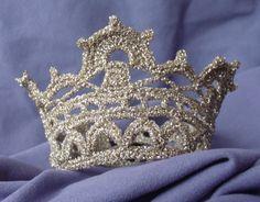 Virkad prinsesskrona eller brudkrona - MÖNSTER