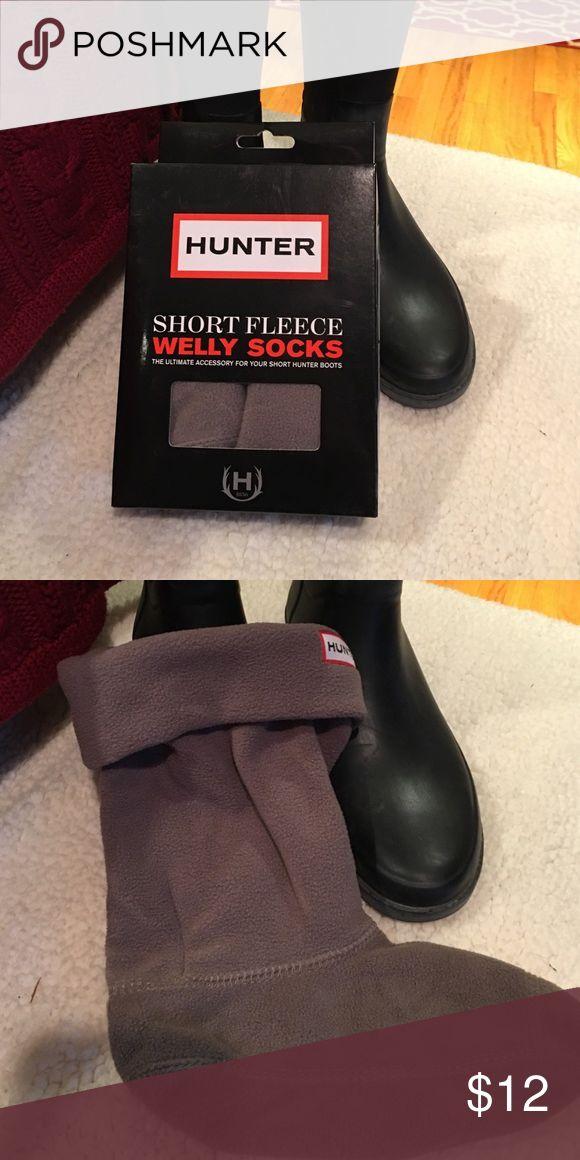 Hunter Short Fleece Welly Socks NWT Hunter Welly Short Socks.Charcoal in color. Hunter Boots Accessories Hosiery & Socks