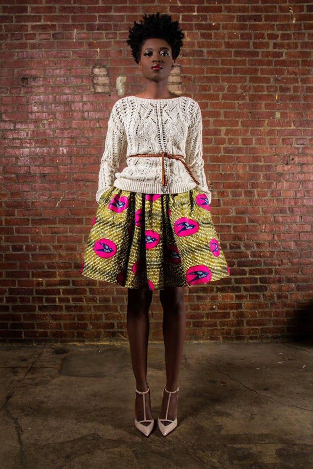 African Print Skirt Modele De Pagne Africain African Fashion Pinterest Mode Och Inspiration