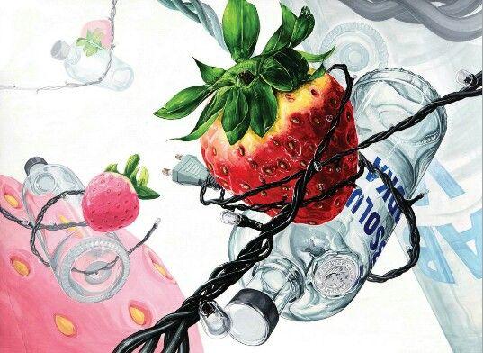 딸기, 유리병, 트리장식전구