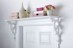DIY Doorway Shelf - thinking this would be nice over a kitchen window too - good project for hubby