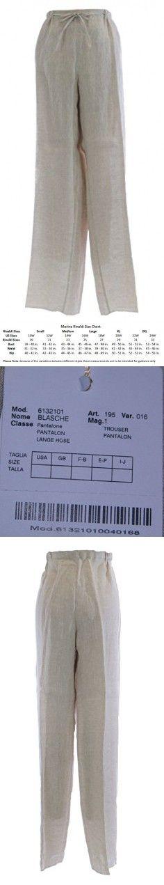 MARINA RINALDI by MaxMara Blasche Sand Unhemmed Tie Waist Dress Pants 14W / 23