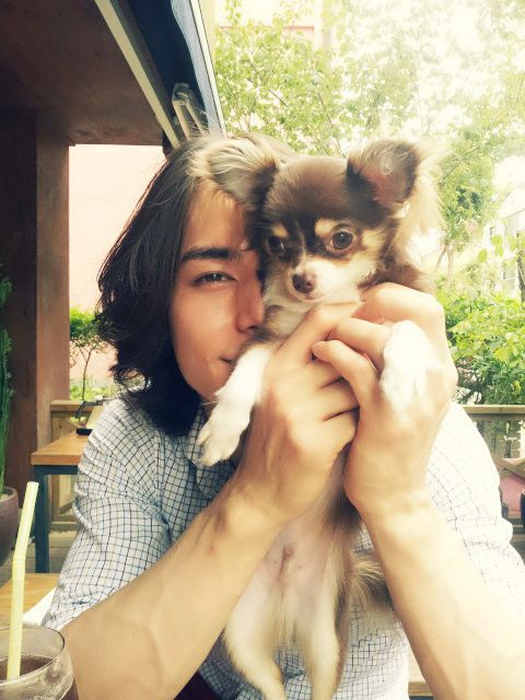 Lee Hyun Jae with his dog, Coco