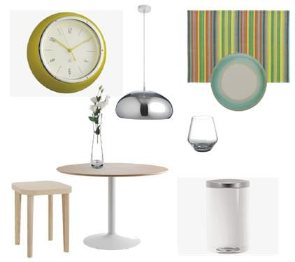 Feeling like updating your house ware. Checkout this Habitat sleek look. Great new pieces to add to your interior furnishing.The beautiful Lumen small ash side table has pure, clean lines with a feature curved edge and fine grain. Add the Marta pack of 4 multi-colored, striped place-mats combines vibrant color and cool grey with a bonded edge.