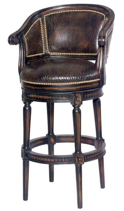 1000 images about bar stools on pinterest upholstery for Luxury leather bar stools