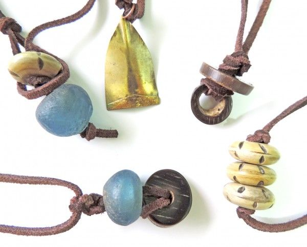 Pendant, handmade, natural materials