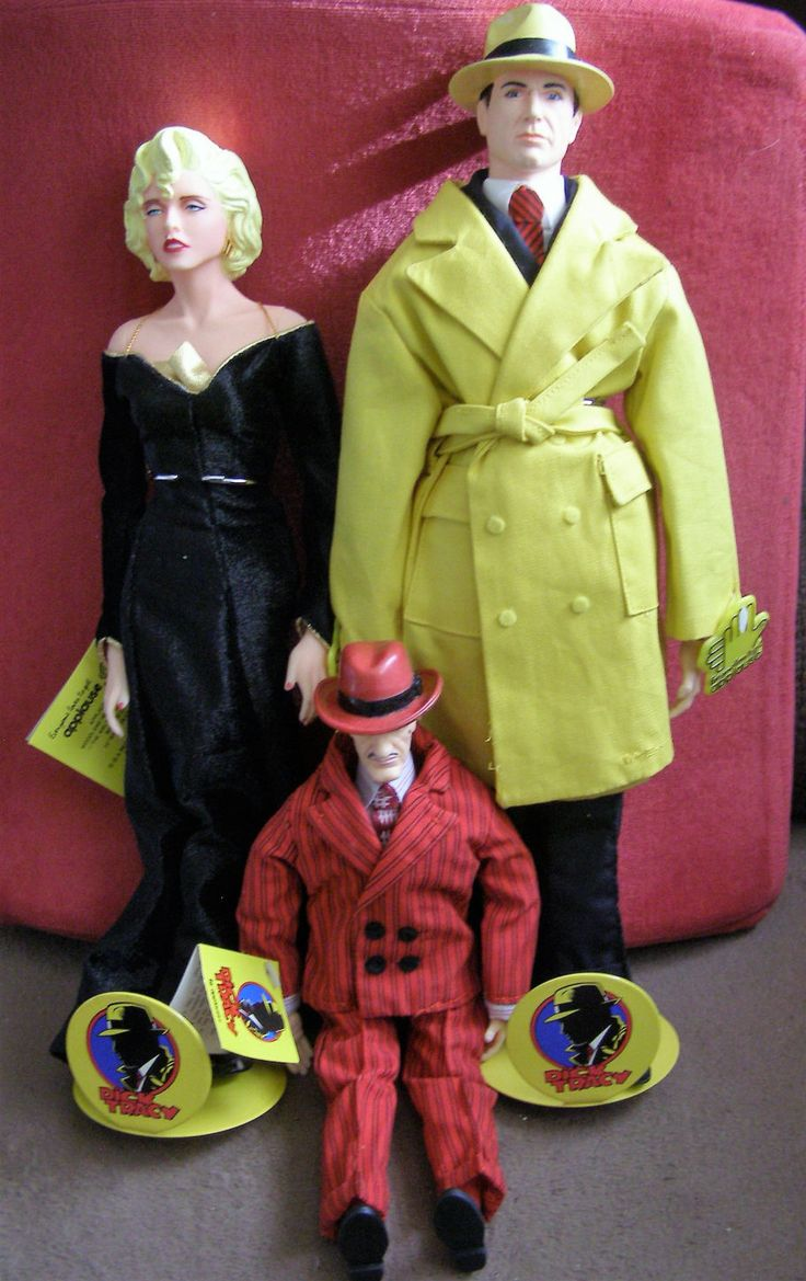 Dick Tracy, Breathless Mahoney and Big Boy from 1990 Movie Applause Figures by Something2SingAbout on Etsy