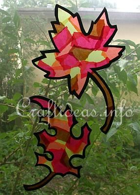 Fall harvest craft for toddlers | Fall_Craft_for_Kids_-_Paper_Autumn_Leaves_Window_Decorations