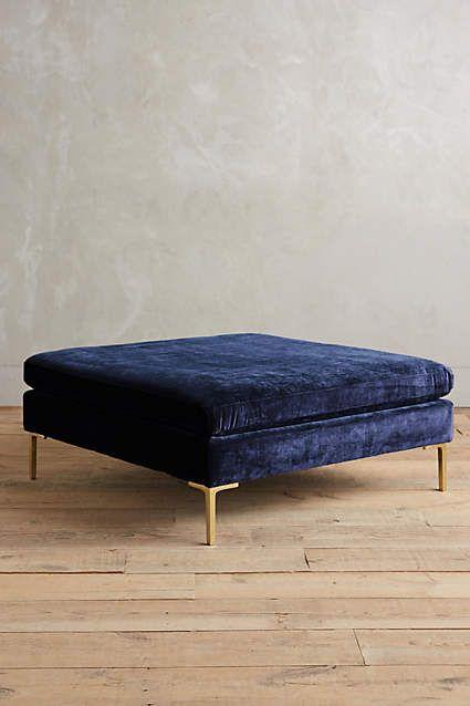 in lieu of a coffee table??   Slub Velvet Edlyn Grand Ottoman