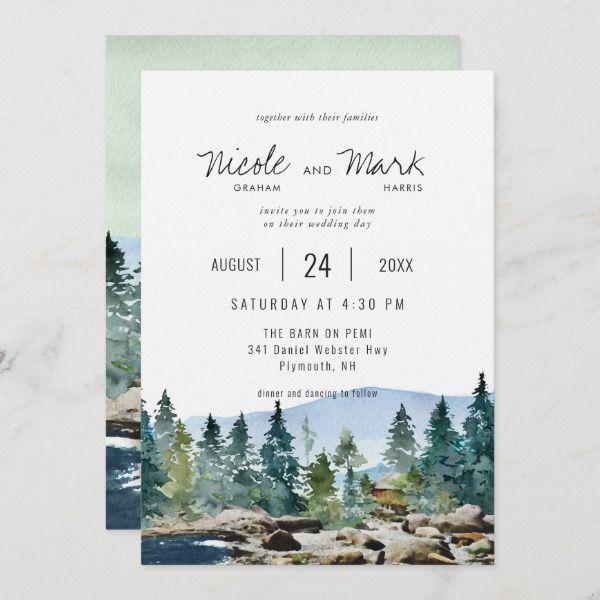Forest Wedding Invitations Rustic Wedding Invitations Org Watercolor Wedding Invitations Forest Wedding Invitations Wedding Invitations Rustic