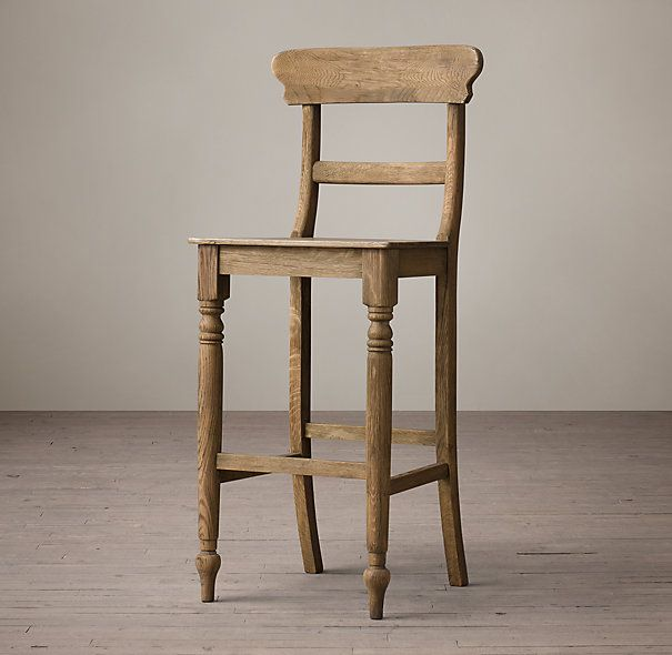 19th C English Schoolhouse Stool Via Restoration Hardware