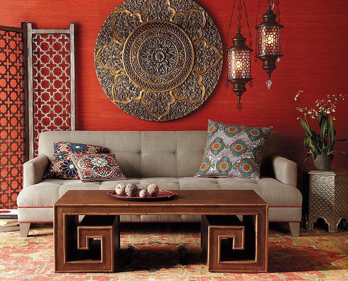 drawing room in the indian style