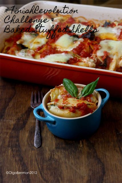 Baked Stuffed Shells from Lidia Bastianich's new cookbook AND #FinishRevolution Challenge