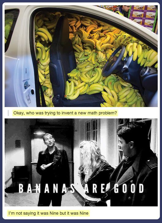 Bananas are good… Wait he's a Time Lord, Time Lords can count just by looking proof episode The Asylum of the Daleks