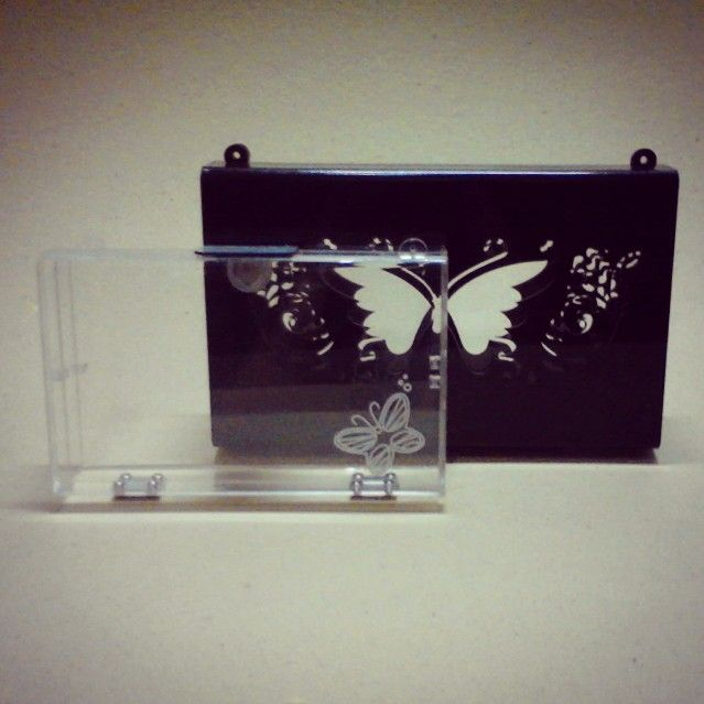 Butterfly acrylic clutch