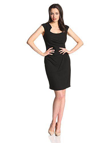 299b2f2eea Calvin Klein Women s Cap-Sleeve Side-Ruched Sheath Dress at Amazon Women s  Clothing store