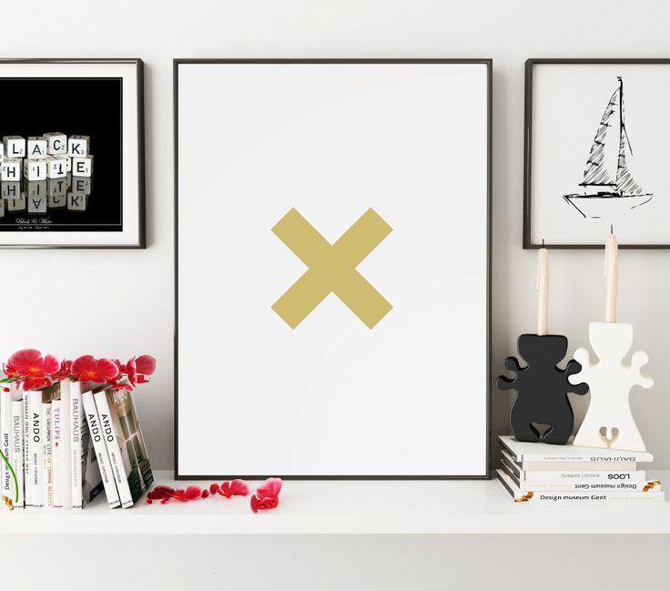 Letter X Print, X Art, X Print, Typography Poster, Cross Art, Cross Home Decor, Cross Print, Modern Poster Design, Instant Download