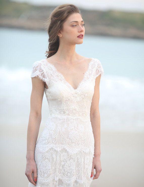 Beaded Boho Tiered Wedding Dress New 2016 by MotilBespokeBridal