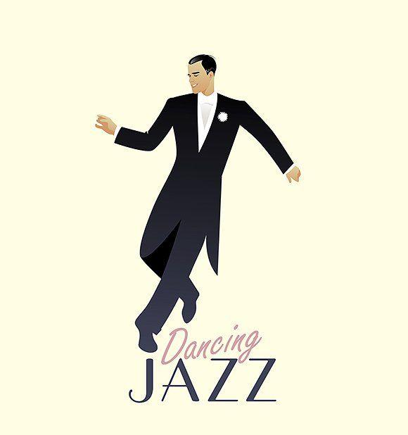 Elegant man dancing Jazz by La Inspiratriz on @creativemarket