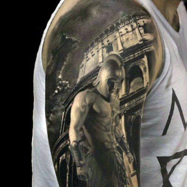 Warrior Inner Arm Tattoos For Men
