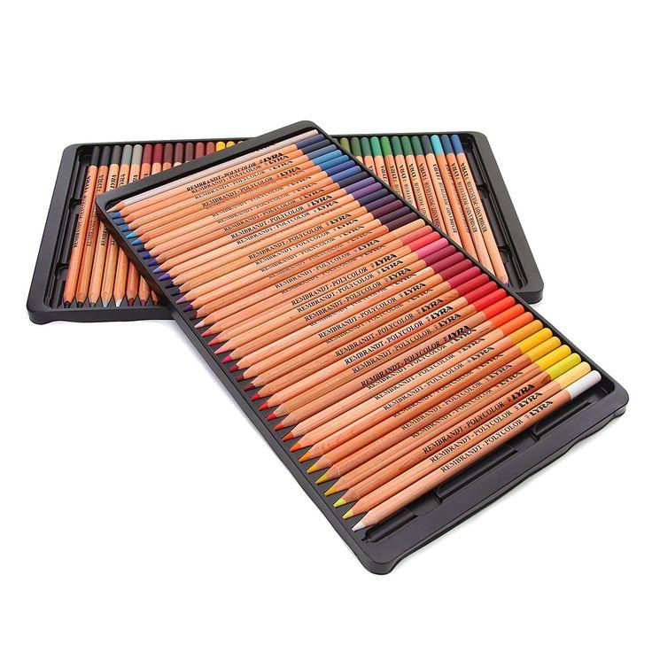 LYRA Rembrandt Polycolor Art Pencils, Set of 72 Pencils, Assorted Colors (2001720)