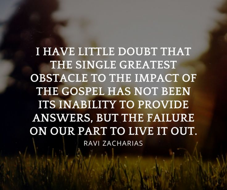 ravi-zacharias-quotes-i-have-little-doubt-that-the-single-greatest-obstacle-to-the-impact-of-the-gospel                                                                                                                                                      More