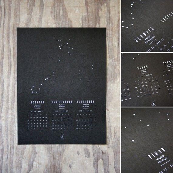 Astrology wall calendar $8