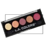 LOT of 5 designer metalic eye shadows with 25 colors EYEshadow palette (Health and Beauty)By L.A. Colors