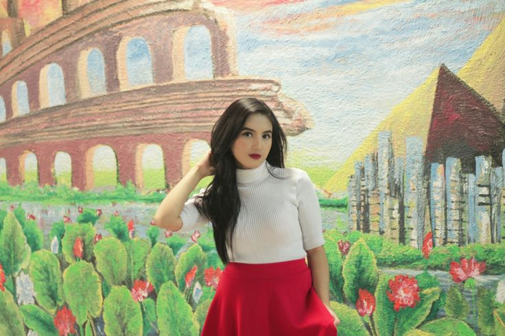 'Scarlet Red' completed my whole look. In love with the background. Taken in Malang.  #MNYPopOfColor #malang #MaybellineIndonesia