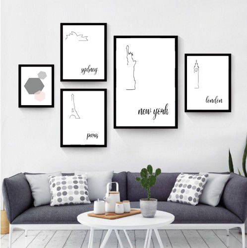 """""""Famous Cities"""" wall art print. This print comes with 4 different sizes to download. 5x7 JPG, 8X10 JPG, 11X14 JPG, 16x20 JPG. THIS IS A DIGITAL DOWNLOAD FILE ONLY. Enter code """"25OFF"""" when you buy 2 or more prints to save 25% off your entire order! https://www.etsy.com/au/listing/501175784/cities-of-the-world-print-5x7-print?ref=shop_home_feat_1"""
